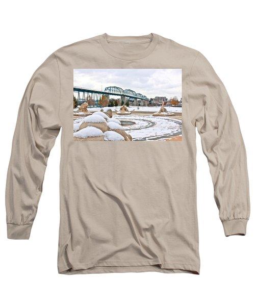 Fountain In Winter Long Sleeve T-Shirt