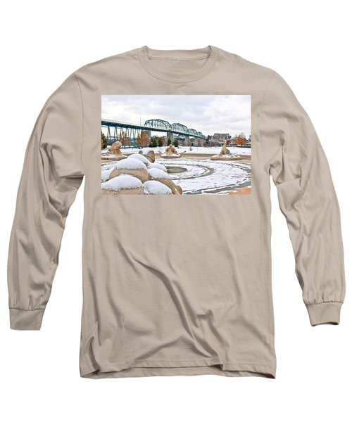 Fountain In Winter Long Sleeve T-Shirt