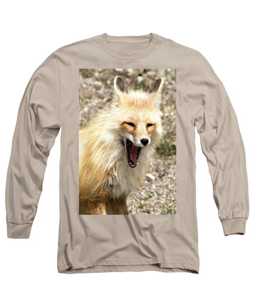 Fox Yawn Long Sleeve T-Shirt