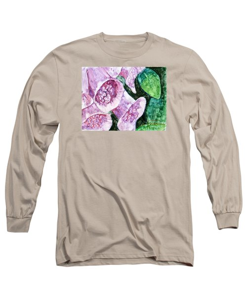 Foxgloves Long Sleeve T-Shirt by Laurie Morgan