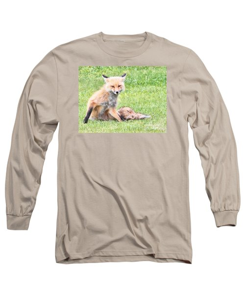 Long Sleeve T-Shirt featuring the photograph Foxy by Debbie Stahre