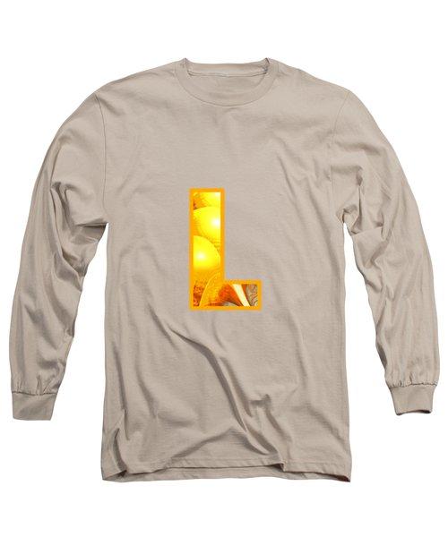 Fractal - Alphabet - L Is For Light Long Sleeve T-Shirt