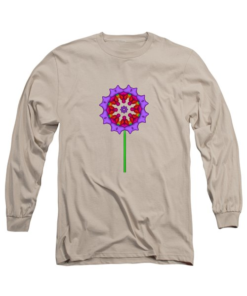 Fractal Flower Garden Flower 02 Long Sleeve T-Shirt
