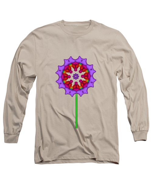 Fractal Flower Garden Flower 02 Long Sleeve T-Shirt