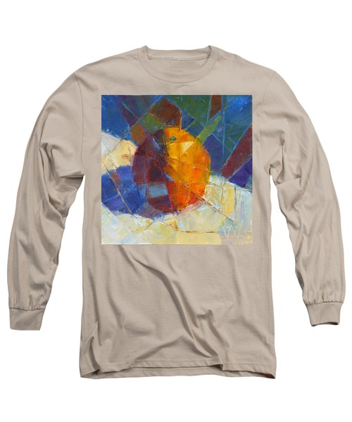 Fractured Orange Long Sleeve T-Shirt by Susan Woodward