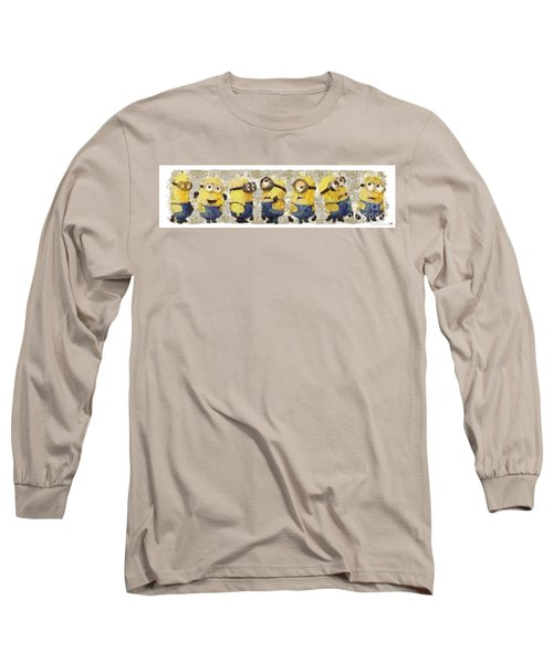 Fragmented And Still In Awe Congratulations Minions Long Sleeve T-Shirt by Catherine Lott