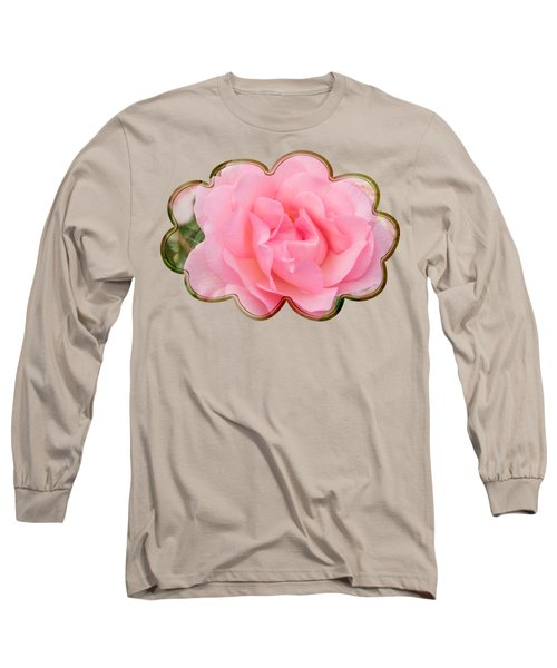 Fragrant Cloud Rose Long Sleeve T-Shirt by Jane McIlroy