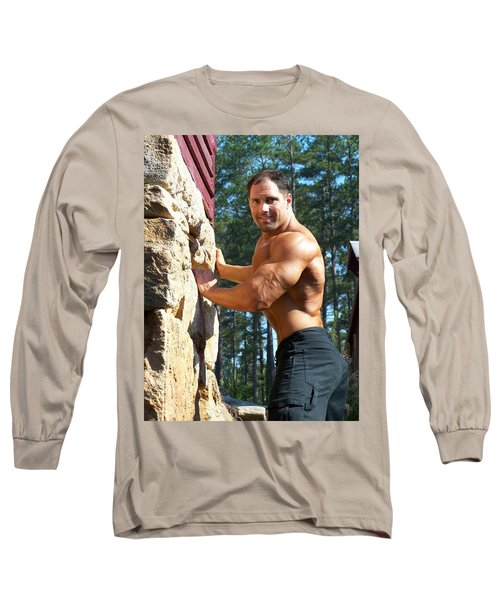 Long Sleeve T-Shirt featuring the photograph Franco Corelli Aka Dominic Dagostino by Jake Hartz