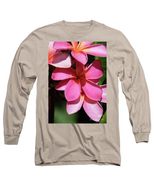Frangipani Long Sleeve T-Shirt by Mini Arora