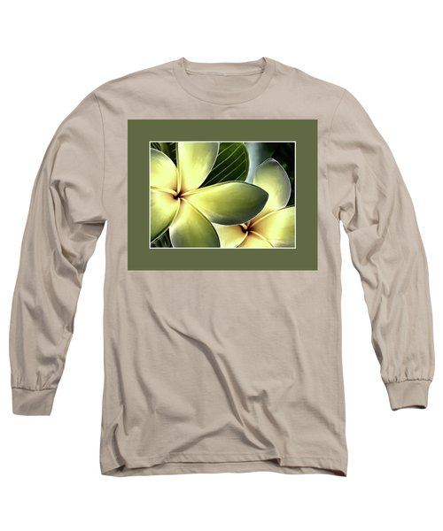 Frangipani - Plumeria Long Sleeve T-Shirt