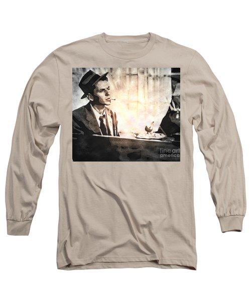 Frank Sinatra - Vintage Painting Long Sleeve T-Shirt