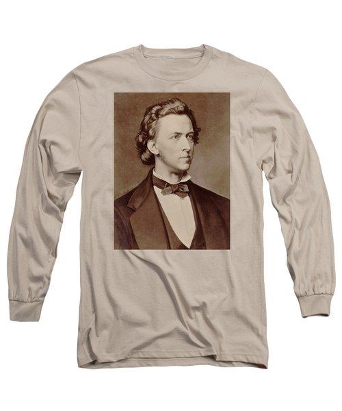 Frederic Chopin Long Sleeve T-Shirt by Tilen Hrovatic