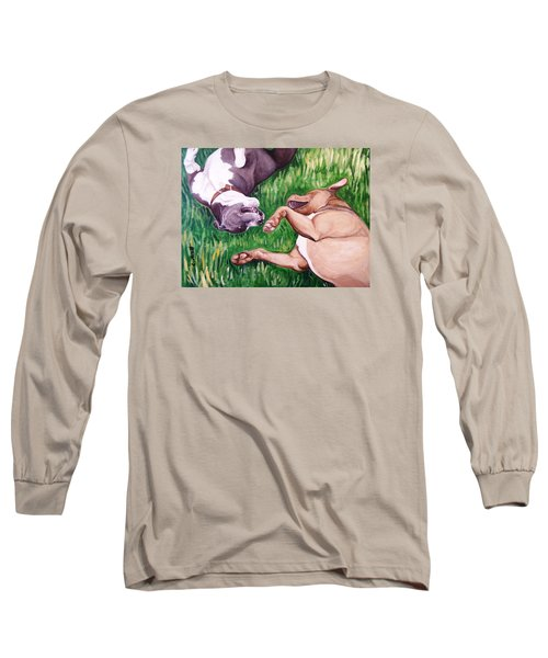 Long Sleeve T-Shirt featuring the painting Free Fallin' by Laura Aceto