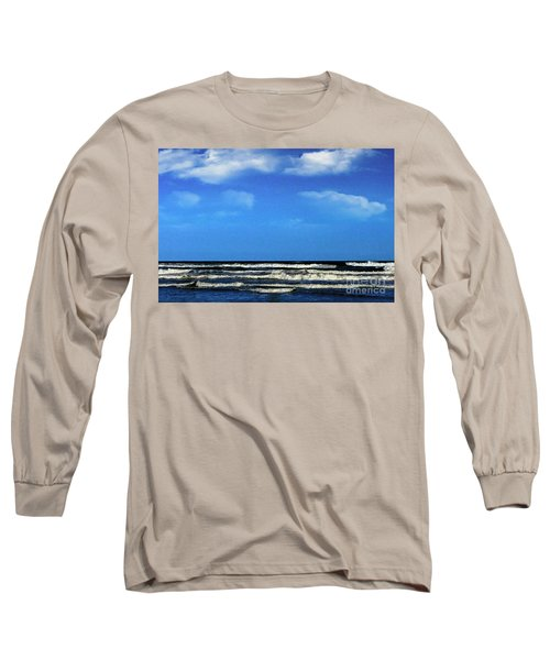 Freeport Texas Seascape Digital Painting A51517 Long Sleeve T-Shirt