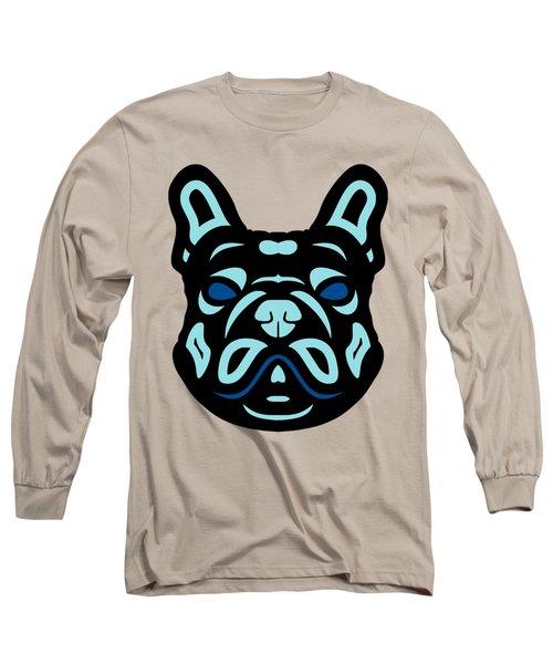French Bulldog Francis - Dog Design - Hazelnut, Island Paradise, Lapis Blue Long Sleeve T-Shirt