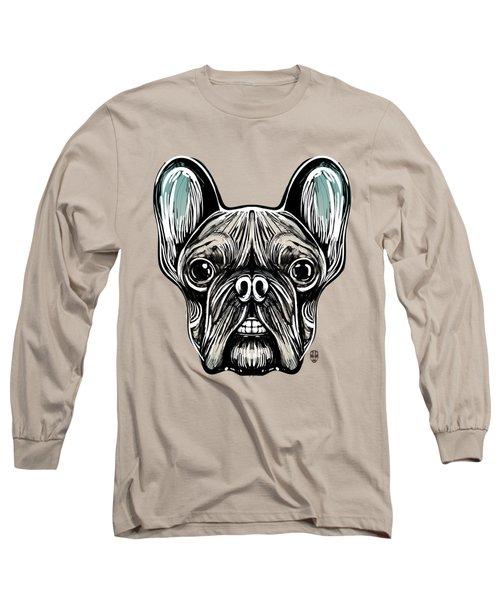 French Bulldog Smilling Long Sleeve T-Shirt