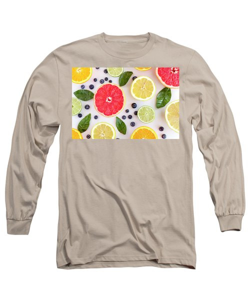Fresh Citrus Fruits Long Sleeve T-Shirt