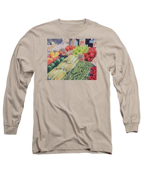 Fresh Green Beans Long Sleeve T-Shirt by Constance DRESCHER
