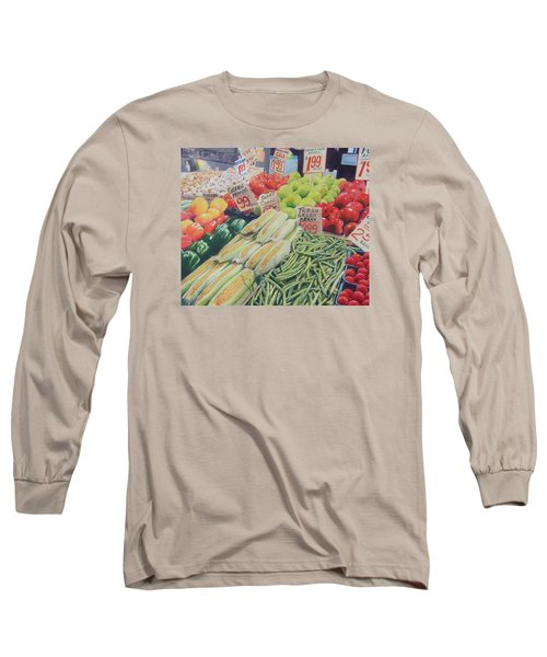 Fresh Green Beans Long Sleeve T-Shirt