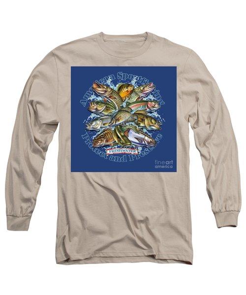 Freshwater Fish Preserve Long Sleeve T-Shirt by Jon Q Wright JQ Licensing