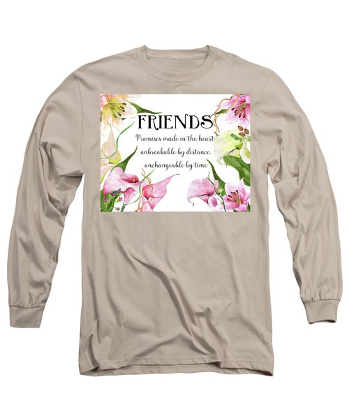 Long Sleeve T-Shirt featuring the digital art Friends by Colleen Taylor