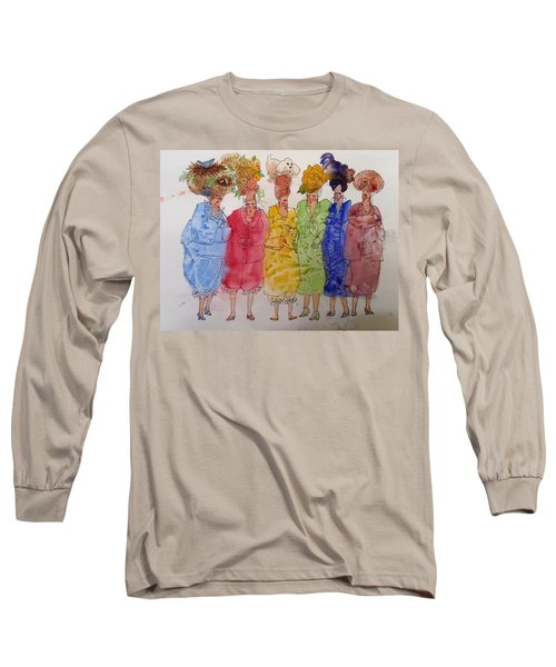 The Crazy Hat Society Long Sleeve T-Shirt by Marilyn Jacobson