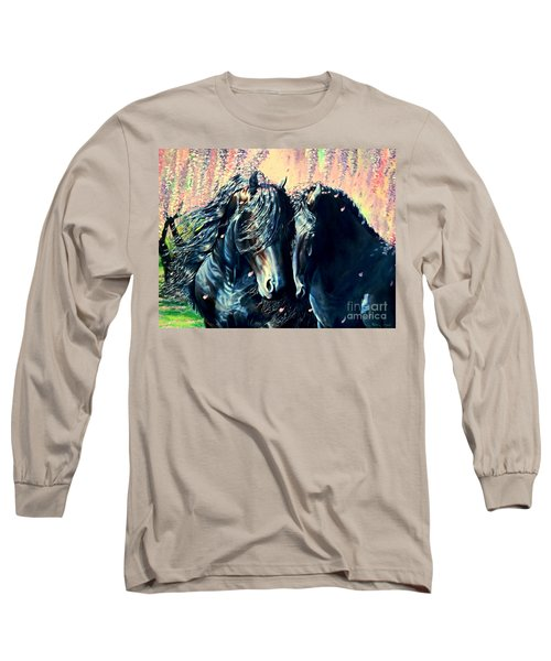A Friesian Romance Long Sleeve T-Shirt