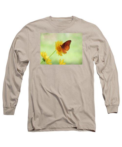Fritillary Fun Long Sleeve T-Shirt by MTBobbins Photography