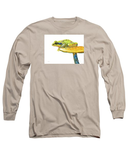 Frog Sitting On A Toad-stool Long Sleeve T-Shirt
