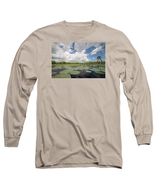 From A Frog's Point Of View - Lake Okeechobee Long Sleeve T-Shirt by Christopher L Thomley