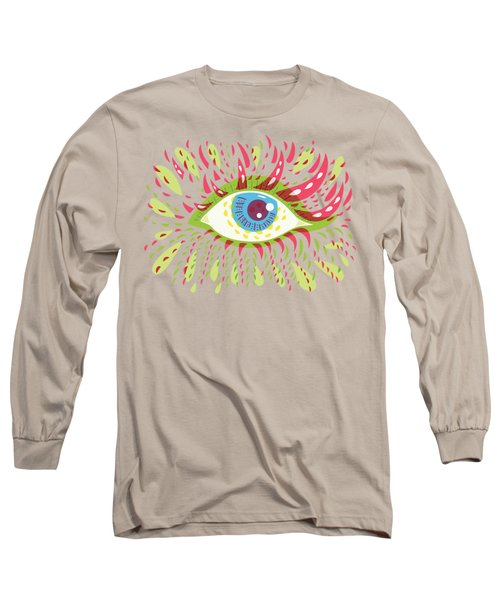 From Looking Psychedelic Eye Long Sleeve T-Shirt