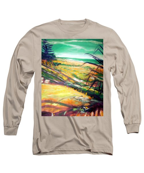 Long Sleeve T-Shirt featuring the painting From The Lawn Pandanus by Winsome Gunning