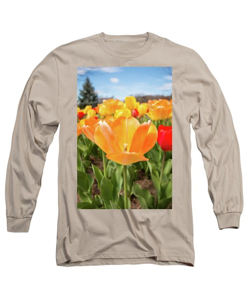 Long Sleeve T-Shirt featuring the photograph Front Of The Tulips by Brian Hale