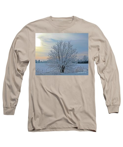 Frosted Sunrise Long Sleeve T-Shirt by Heather King