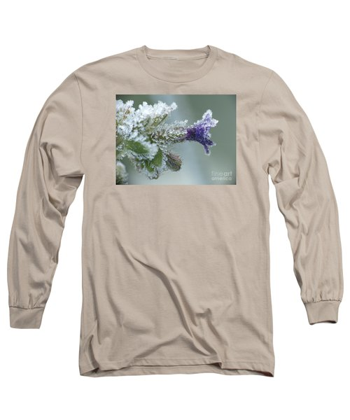 Frosty Flower Long Sleeve T-Shirt by Odon Czintos