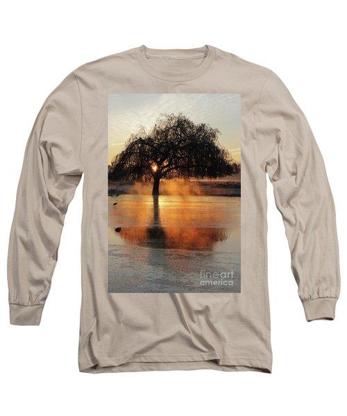 Frosty Sunrise In Bushy Park London 2 Long Sleeve T-Shirt
