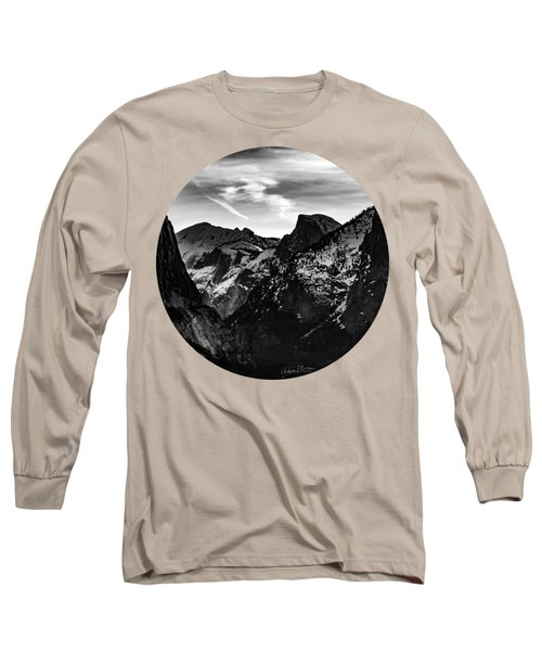 Frozen, Black And White Long Sleeve T-Shirt
