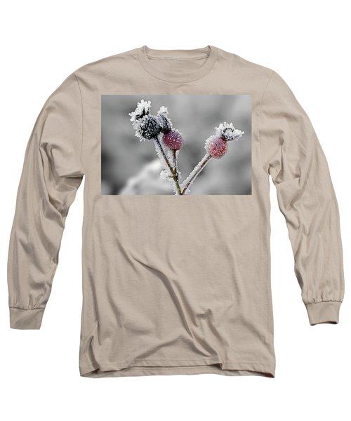 Frozen Buds Long Sleeve T-Shirt by Inge Riis McDonald