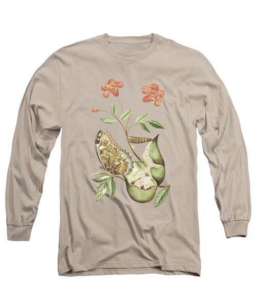 Fruit And Flower Of A Pomegranate By Cornelis Markee 1763 Long Sleeve T-Shirt