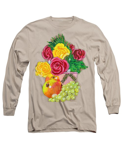 Fruit Petals Long Sleeve T-Shirt by Joe Leist -digitally mastered by- Erich Grant