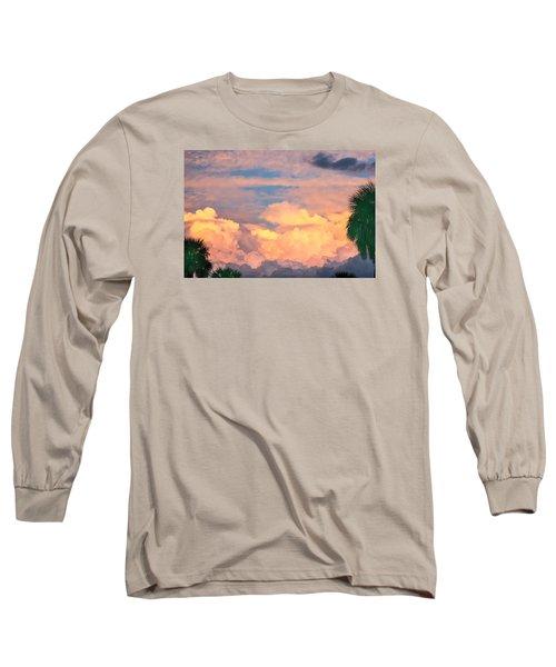 Ft De Soto Sunset Clouds Long Sleeve T-Shirt