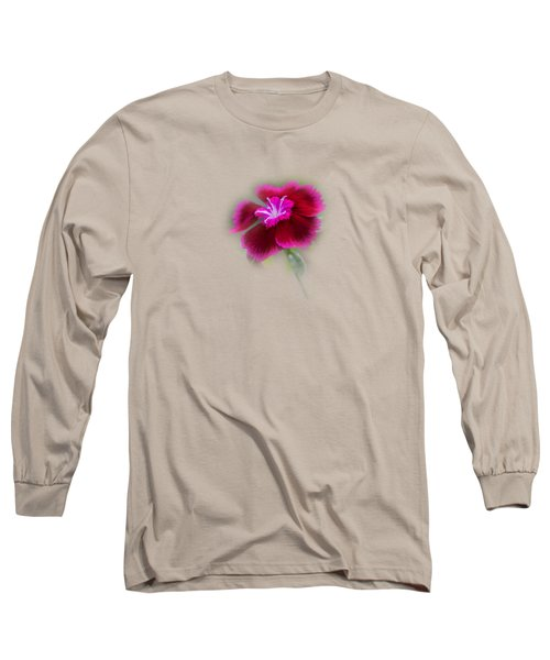 Fuchsia Pink Dianthus Tee-shirt Long Sleeve T-Shirt by Donna Brown