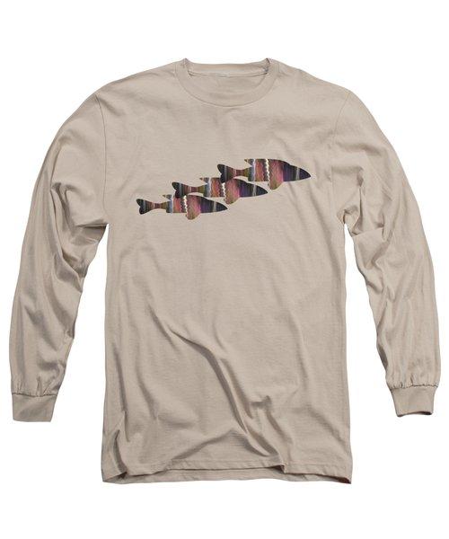 Fuchsia Trio Long Sleeve T-Shirt