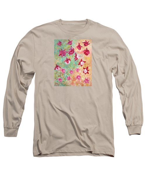 Fuchsias Long Sleeve T-Shirt by Elizabeth Lock