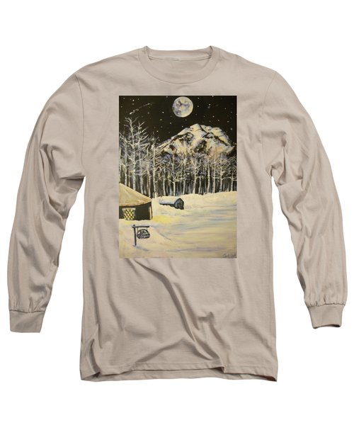 Full Moon At The Sundance Nordic Center Long Sleeve T-Shirt