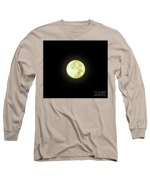 Full Moon August 2014 Long Sleeve T-Shirt by D Hackett