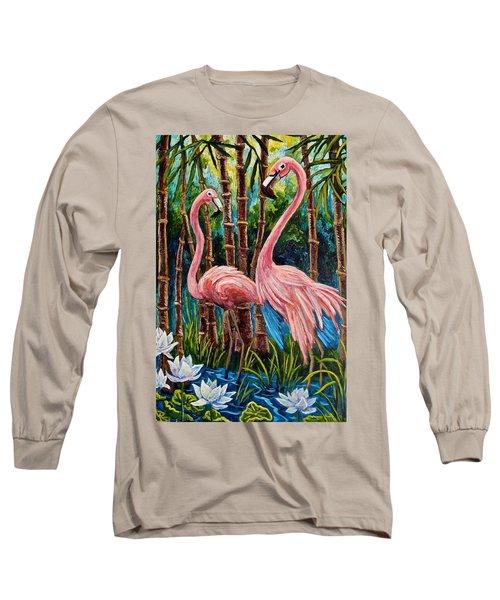 Fun Flamingos Long Sleeve T-Shirt