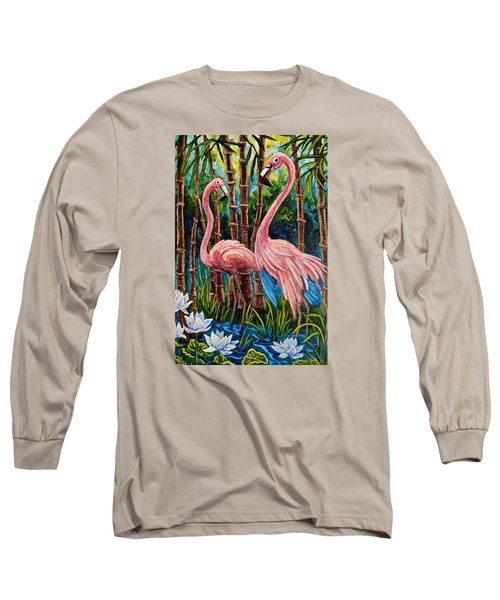 Fun Flamingos Long Sleeve T-Shirt