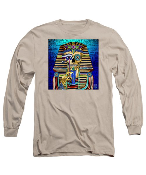 Funky Bone Pharaoh Long Sleeve T-Shirt by Christopher Beikmann