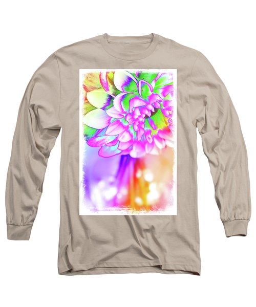 Funky Dahlia Long Sleeve T-Shirt